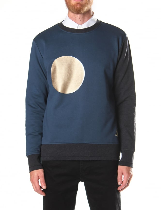 Vivienne Westwood Men's Crew Neck Moon Sweater