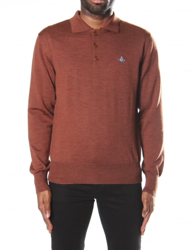 Vivienne Westwood Men's Long Sleeve Polo Knit
