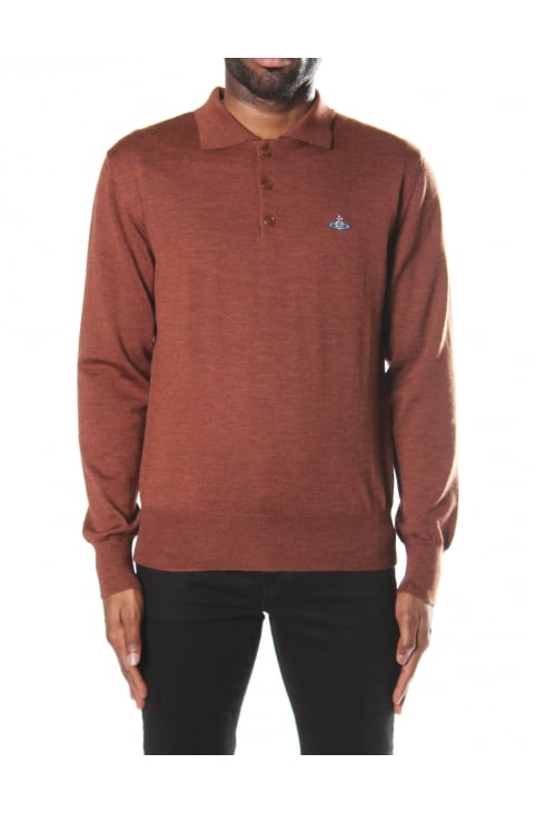 Men's Long Sleeve Polo Knit