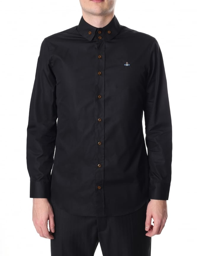 Vivienne Westwood Men's Two Button Long Sleeve Krall Shirt