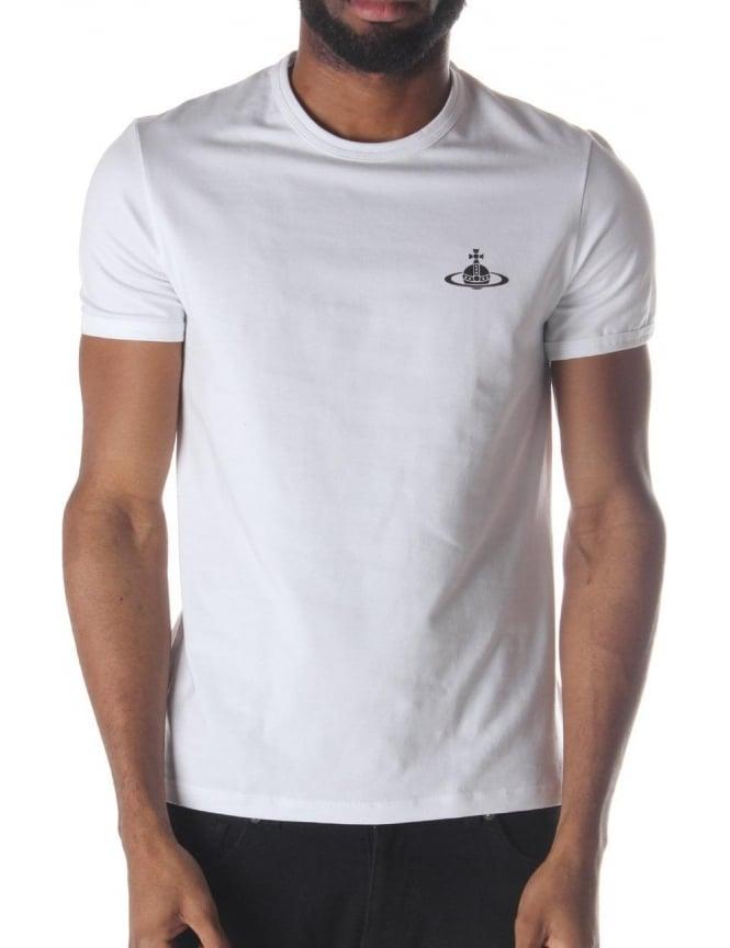 wholesale dealer running shoes release date: Vivienne Westwood Orb Logo Men's T-Shirt White