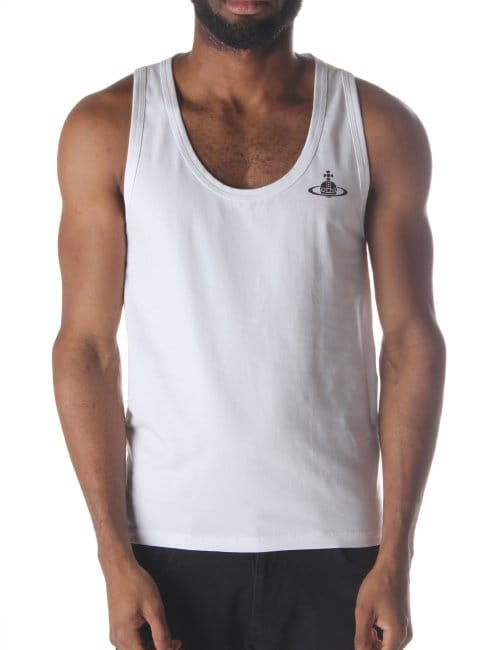 5c94e80b327 Vivienne Westwood Orb Logo Men's Vest Top White