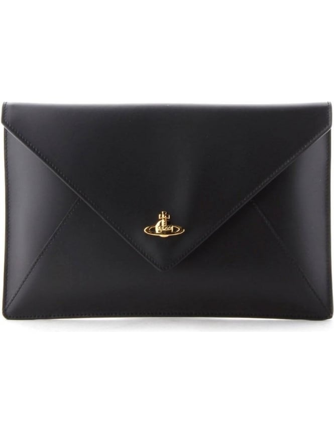 68fa9791d957 Vivienne Westwood Private Women s Envelope Clutch Black