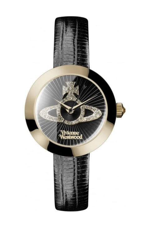 Queensgate Women's Analogue Watch Black/Gold