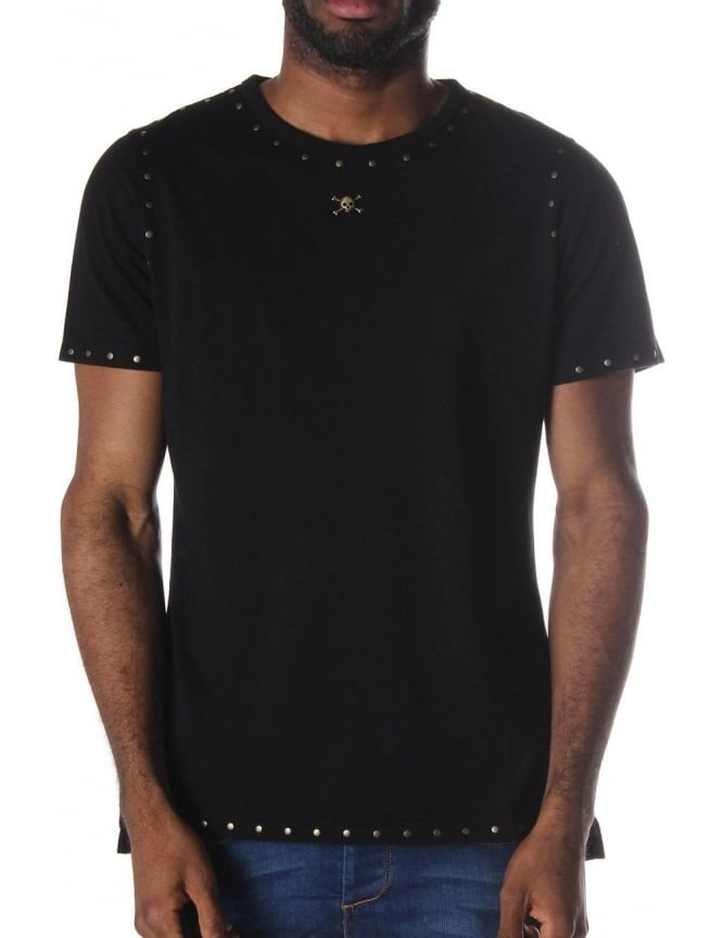 48b817c3c9 Riveted Stud Men's Short Sleeve T-Shirt Black