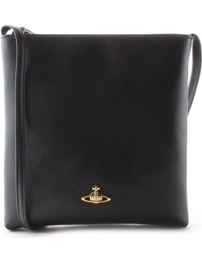 93a3e9535 Vivienne Westwood Saffiano Women's Crossbody Bag Black