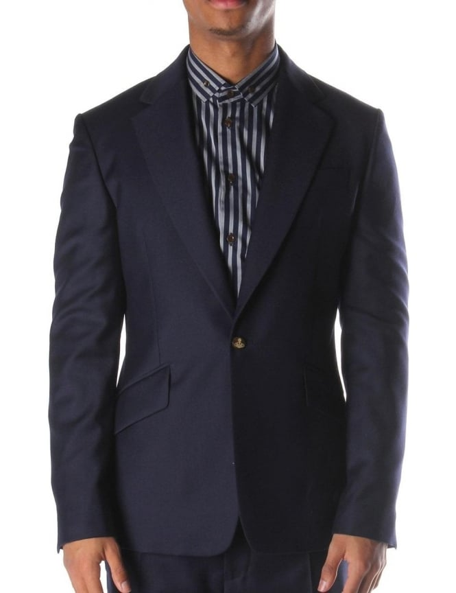 Vivienne Westwood Single Button Men's Blazer Navy