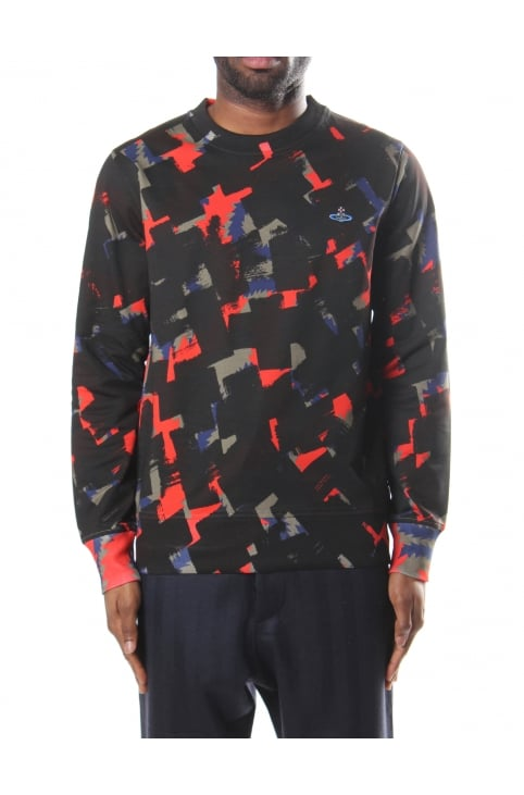 Squiggle Print Men's Sweatshirt