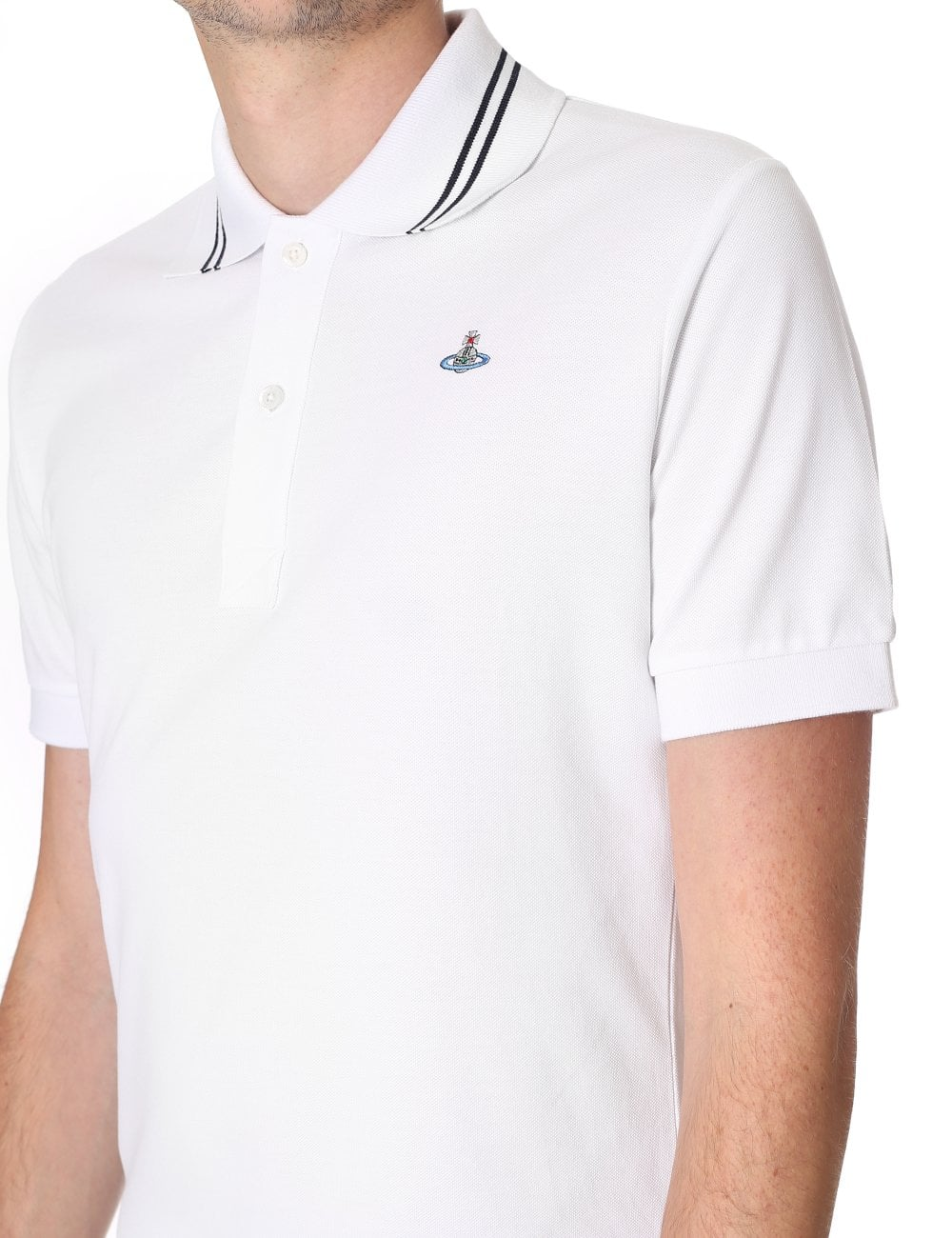 Vivienne Westwood Tipped Collar Men s Short Sleeve Polo f156daa39