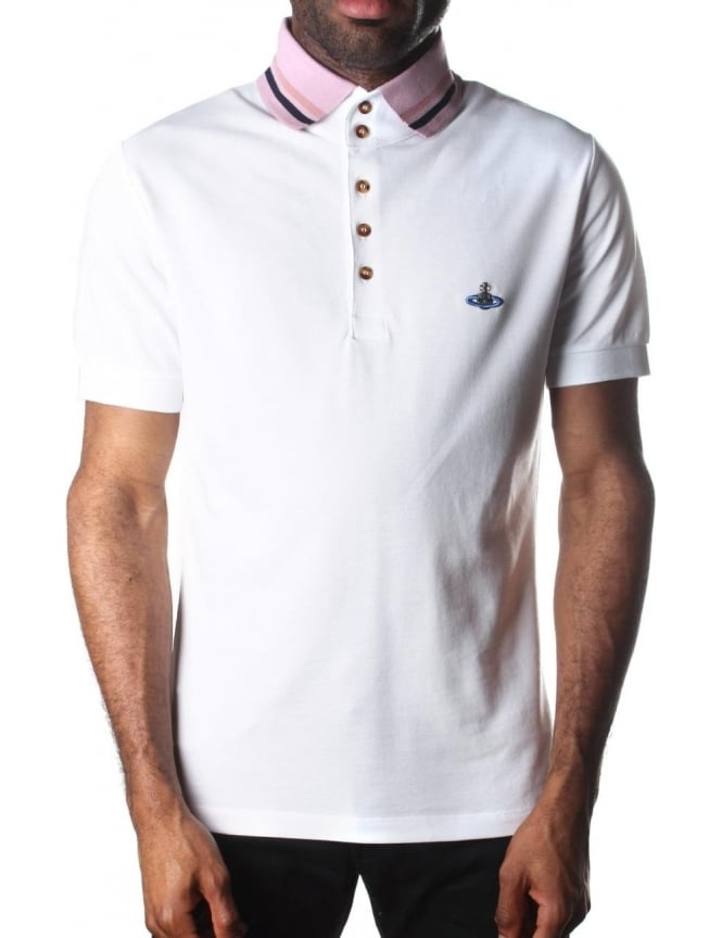 Vivienne Westwood Tipped Collar Men s Short Sleeve Polo Top 117271e0190f1