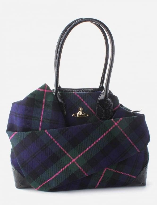 b55b3810d36a Vivienne Westwood Winter Tartan Women s Bag Blue