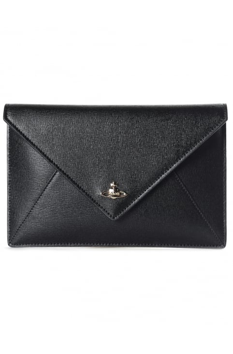 Women's Envelope Saffiano Clutch