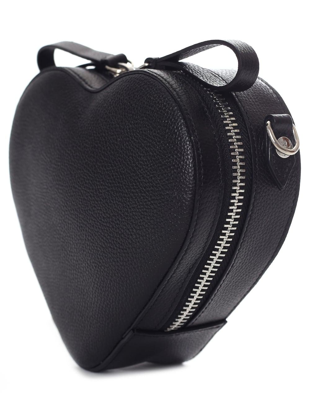 Vivienne Westwood Women s Johanna Heart Crossbody Bag Black 2f9451cd411b7