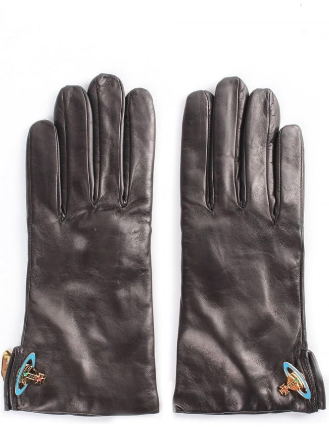 Vivienne Westwood Women's Leather Orb Gloves