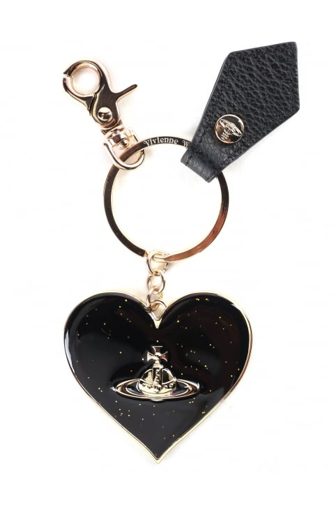 Women's Mirror Heart Keyring