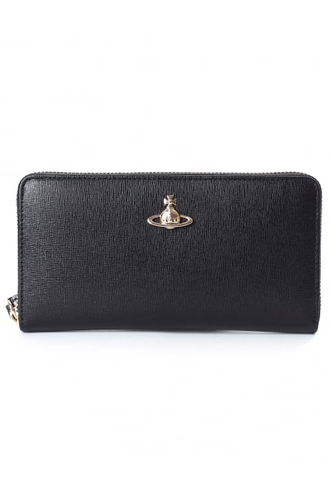 Women's Saffiano Zip Round Wallet