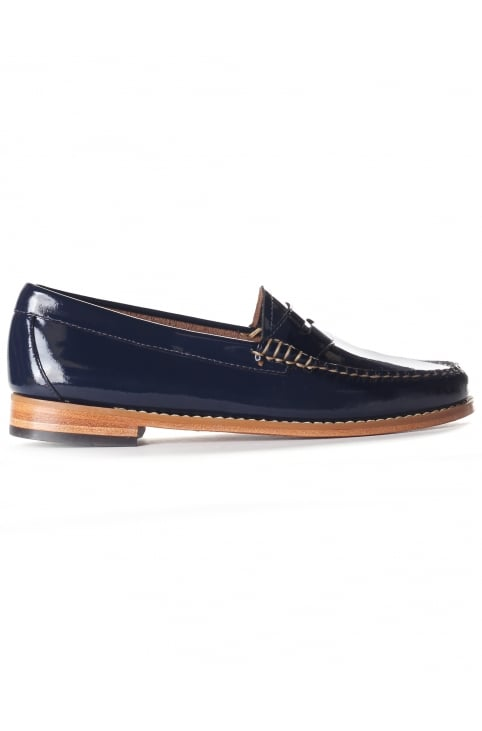 Women's Penny Wheel Loafer Deep Navy Patent Leather