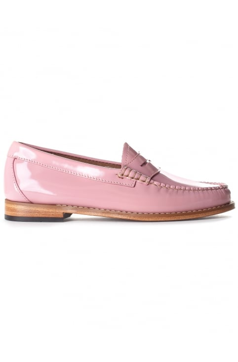 Women's Penny Wheel Loafer Bridal Rose Patent Leather