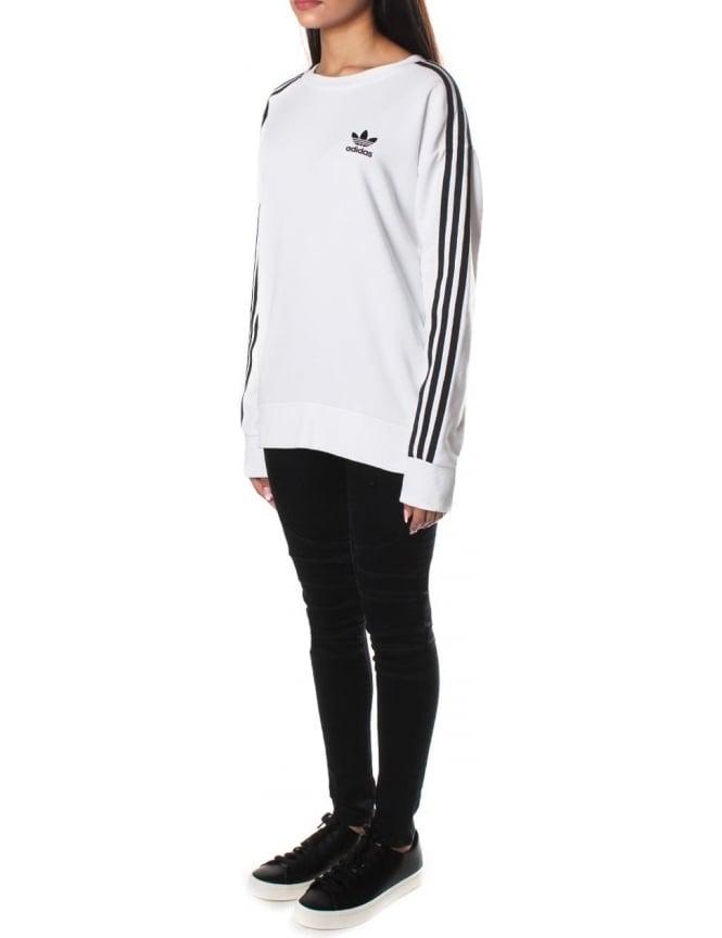 adidas 3 Stripes A Line W sweater white