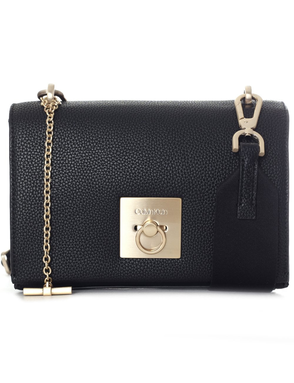 Calvin Klein Women's CK Lock Medium Flap Crossbody Bag