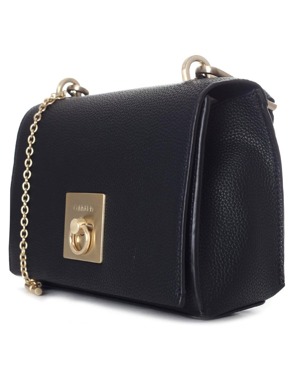 b8d2efa52a1 Clavin Klein Women's CK Lock Medium Flap Crossbody Bag