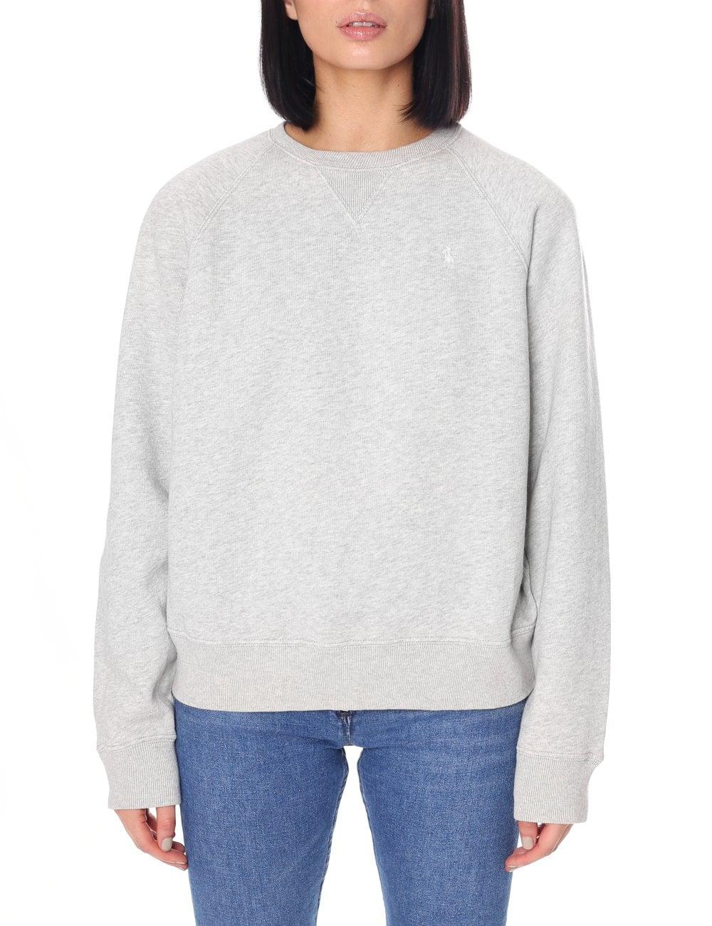 Crew Women's Ralph Lauren Sweatshirt Polo Neck kiPXZu