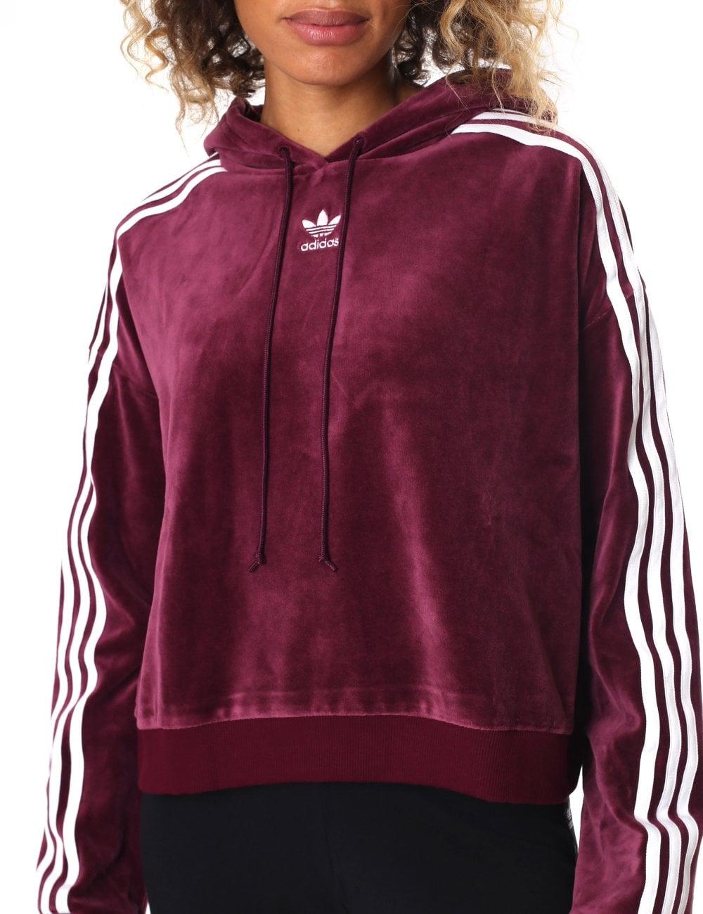 Adidas Women's Cropped Hoodie Black