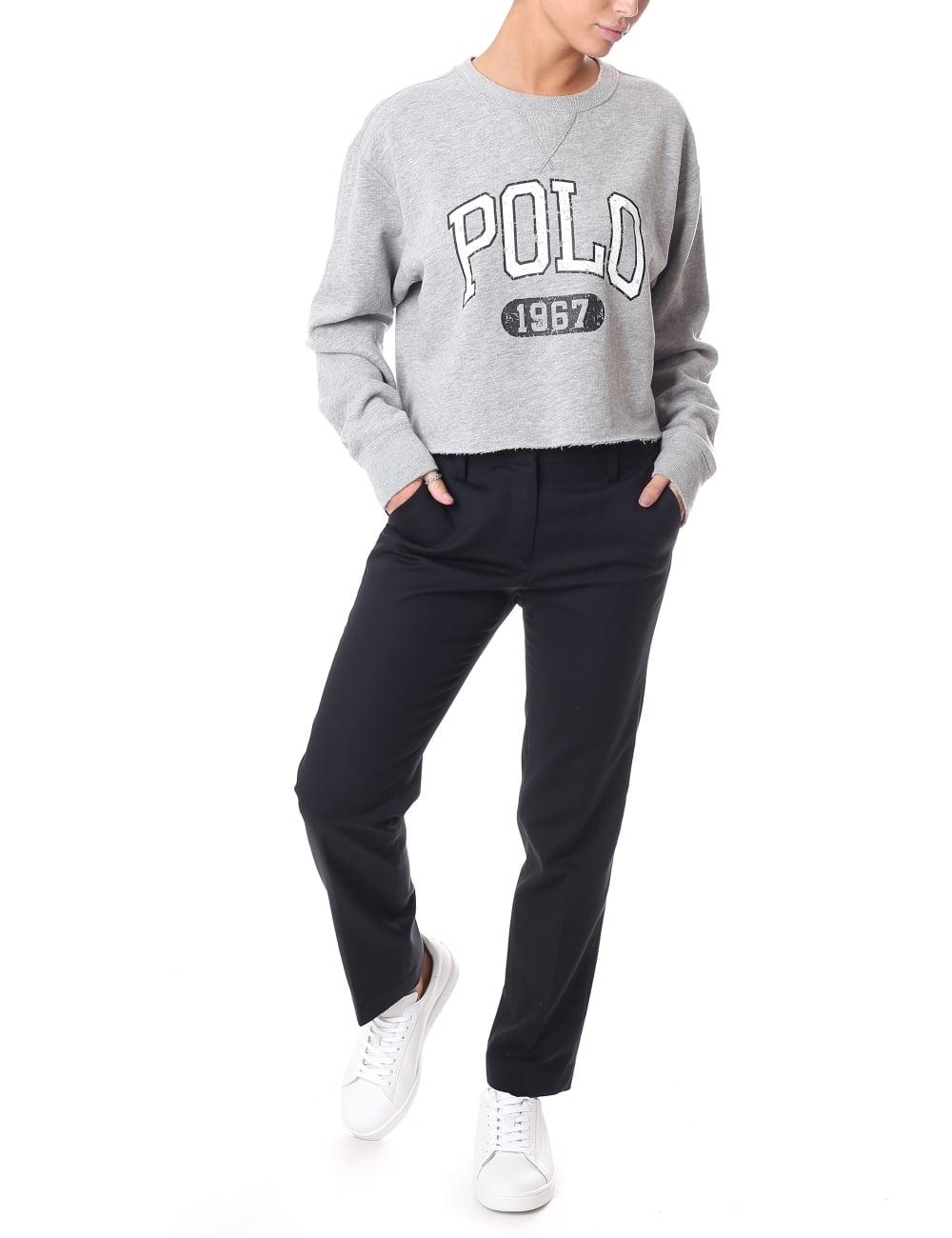 29e0388c Polo Ralph Lauren Women's Cropped Logo Sweat Top