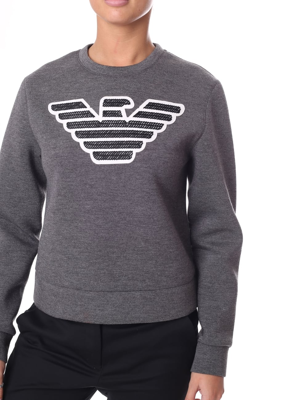 a0270e35f Women's Eagle Logo Crew Neck Sweat Top