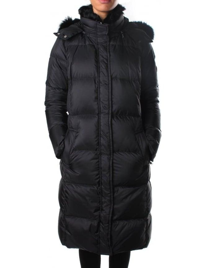 0f6b57369 Michael Kors Women's Fur Collar Long Puffer Coat