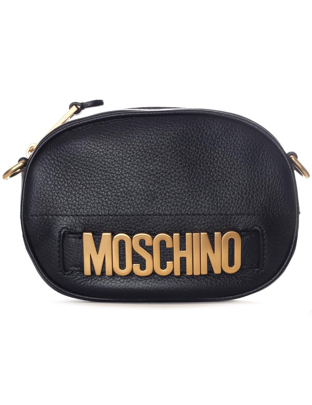 8d47eb80e3281 Moschino Couture Women's Gold Metal Logo Shoulder Bag