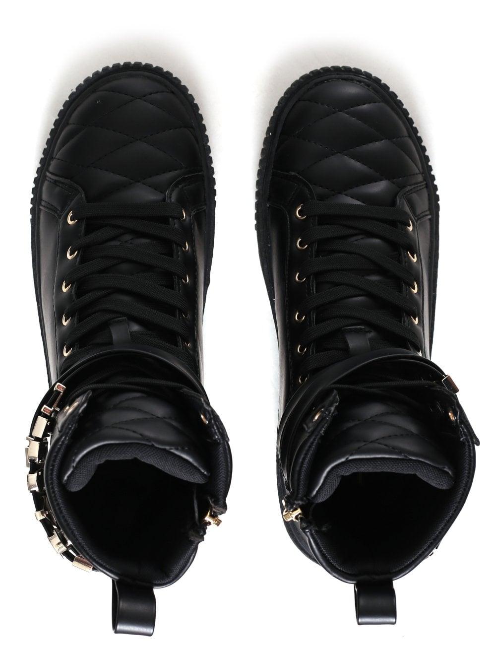 110ce077 Versace Jeans Women's HI Top Letter Sneaker