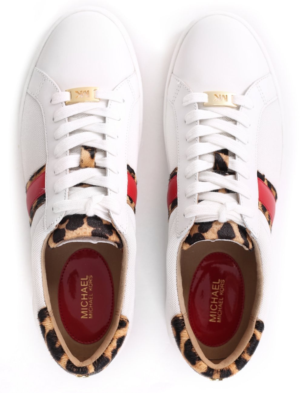 MICHAEL Michael Kors Irving Stripe Lace Up Trainer
