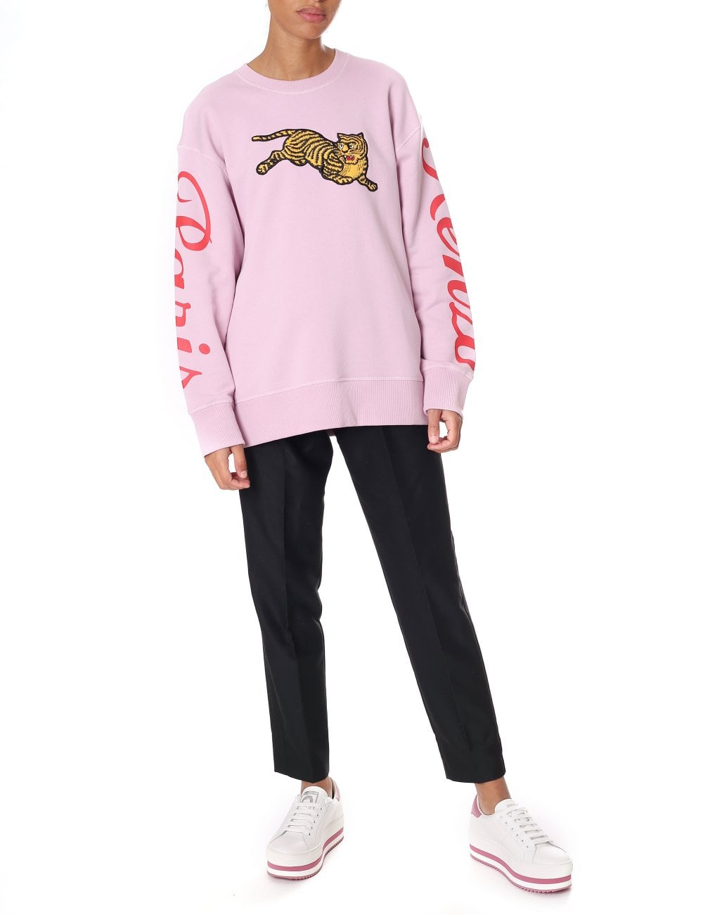 71634ba3f2d7 Kenzo Women's Jumping Tiger Fleece Sweatshirt