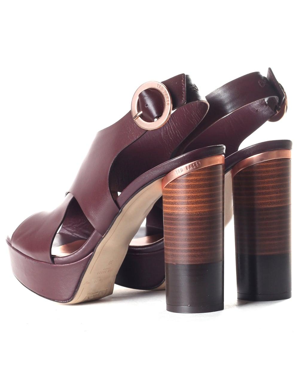 81f2d6679c96f Ted Baker Women's Kamilla Cross Over Leather Block Heel Sandals