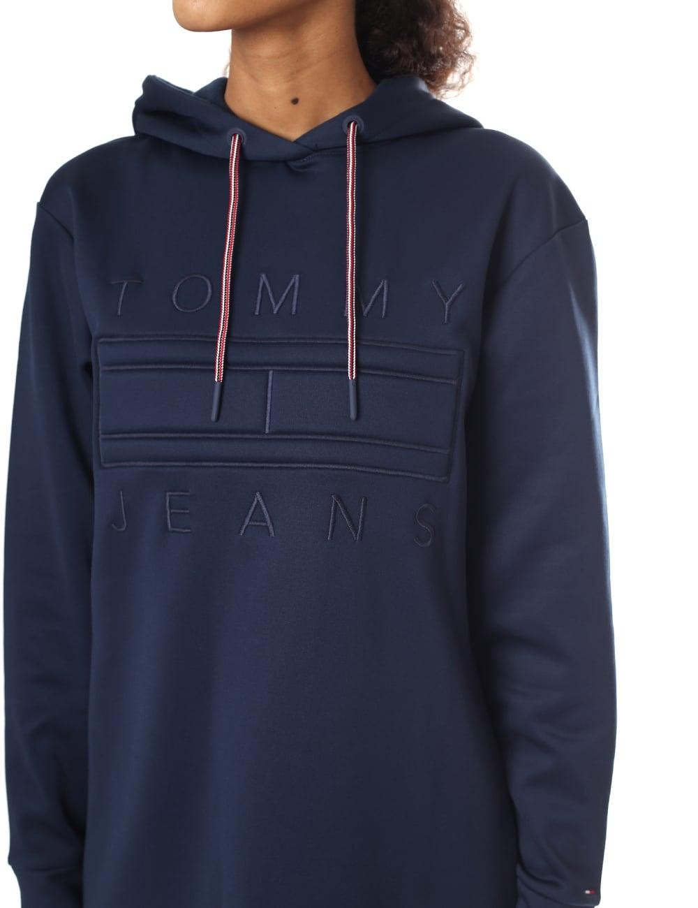 100% Qualität begehrteste Mode Straßenpreis Tommy Hilfiger Women's Logo Hoodie Dress