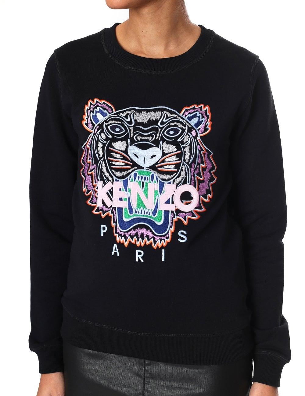 6ef0bfdac455 Kenzo Women's Long Sleeve Tiger Sweatshirt