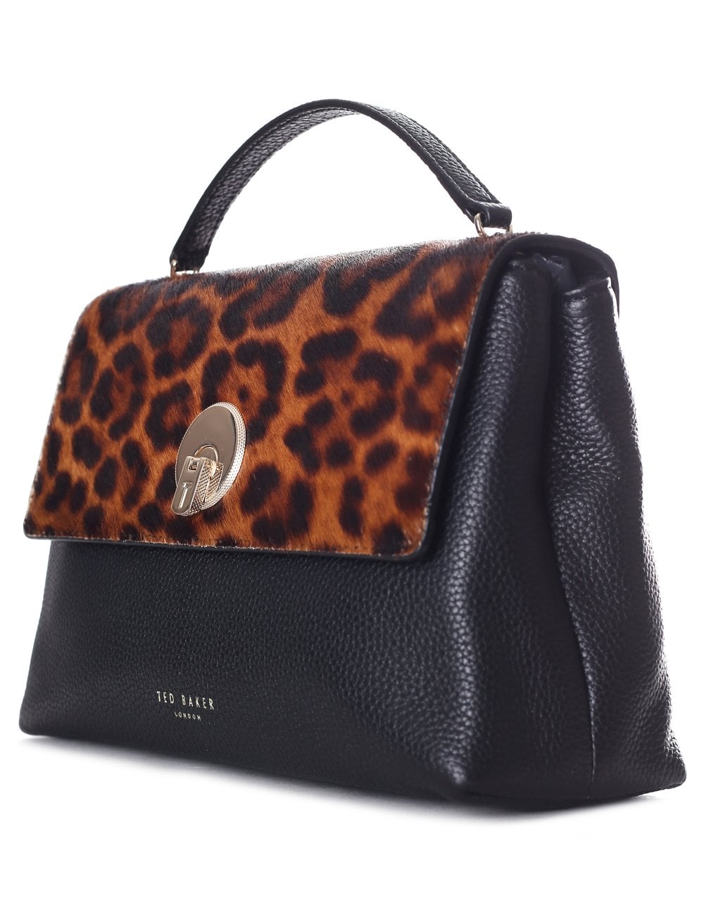 fcb4508c97bb Ted Baker Women's Luccie Leopard Circle Lock CrossBody Black