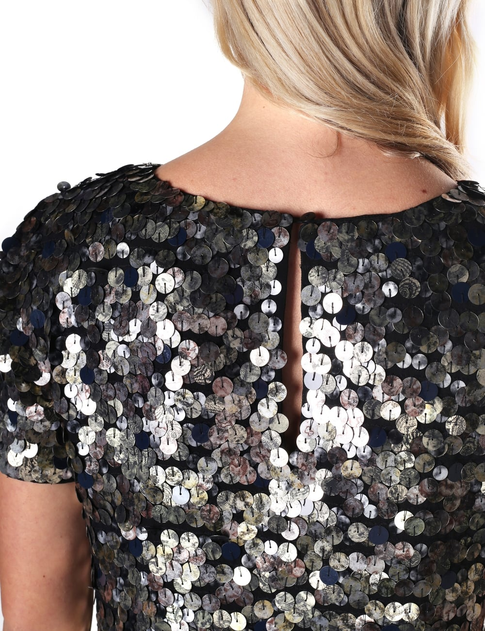 14e93703003 ... French Connection Women's Moon Rock Sparkle Short Sleeve Round Neck  Dress. Tap image to zoom. Women's Moon Rock Sparkle Short Sleeve Round Neck  Dress