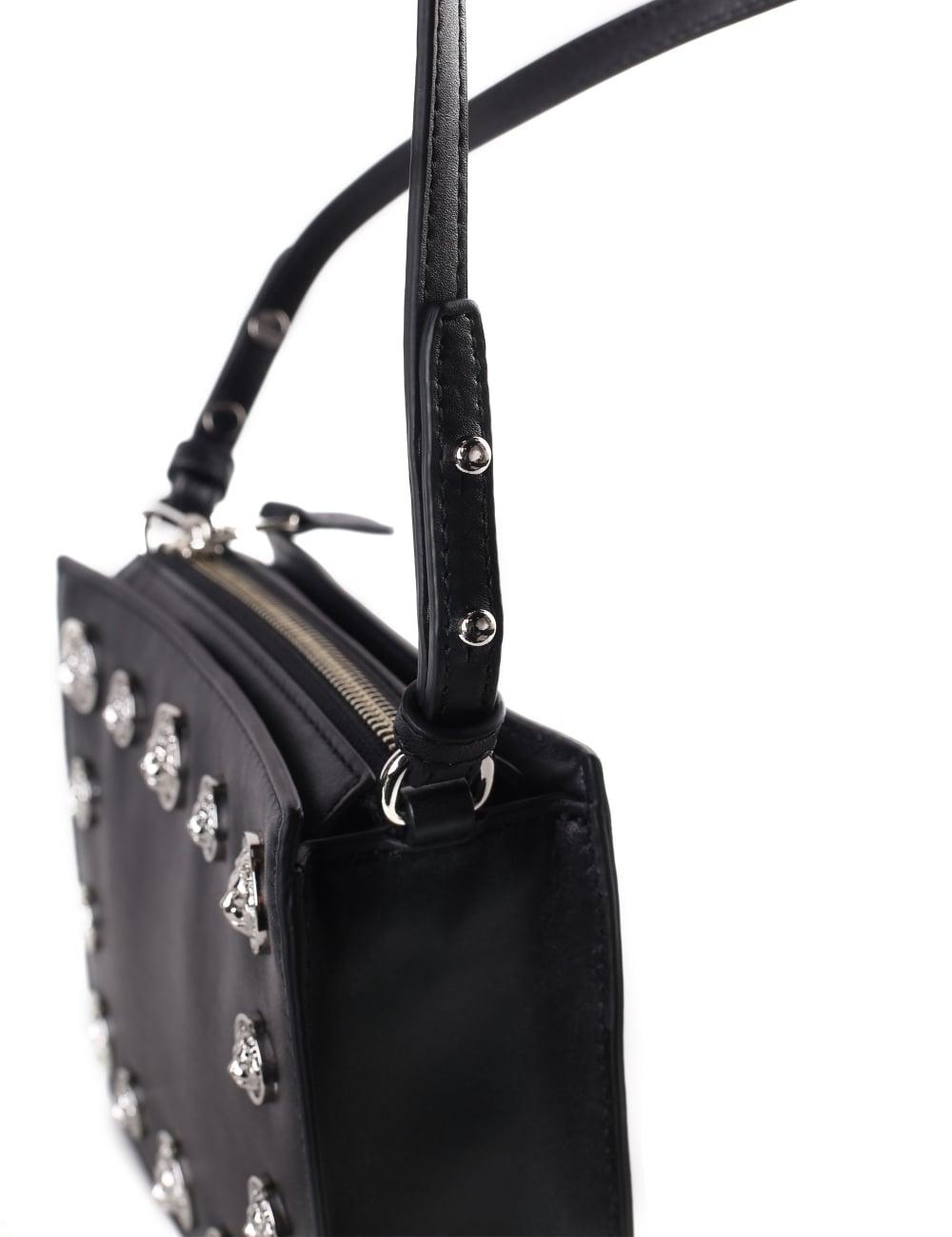 2debcd1b Versus Versace Women's Multi Lion Head Zip Top Crossbody Bag