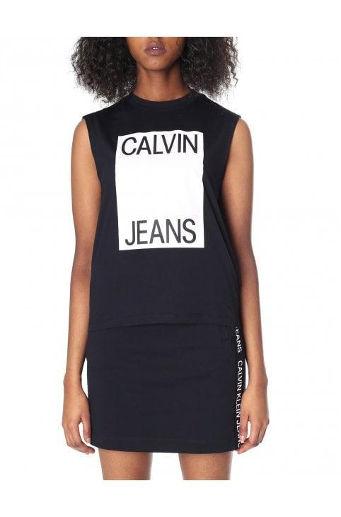 5adcbe05 Women's Muscle Tank Top. Calvin Klein Women's Muscle Tank Top CK Black/Bright  White