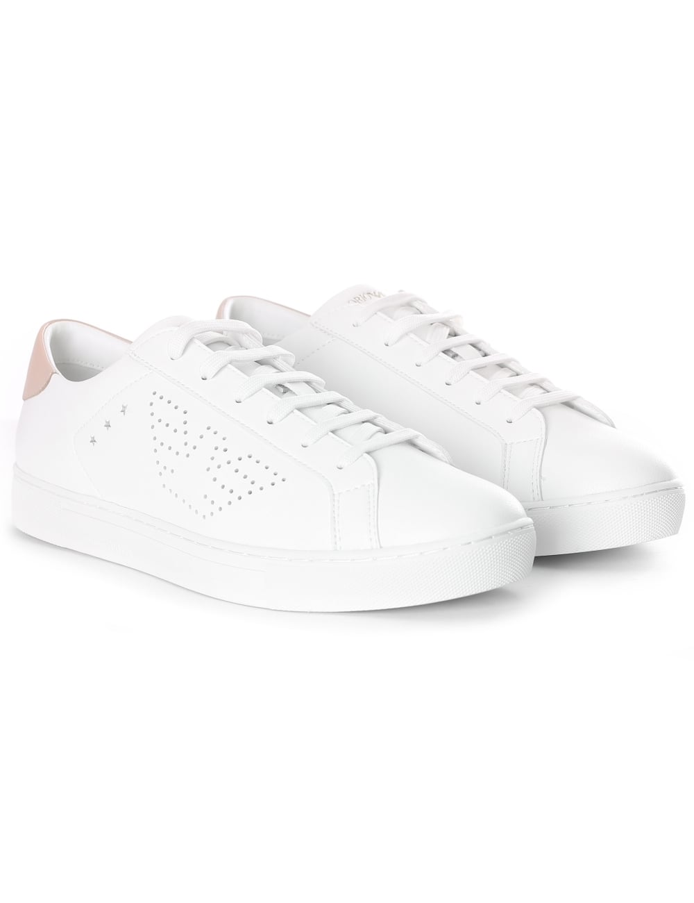 7a138e99 Emporio Armani Women's Perforated Eagle Logo Trainer