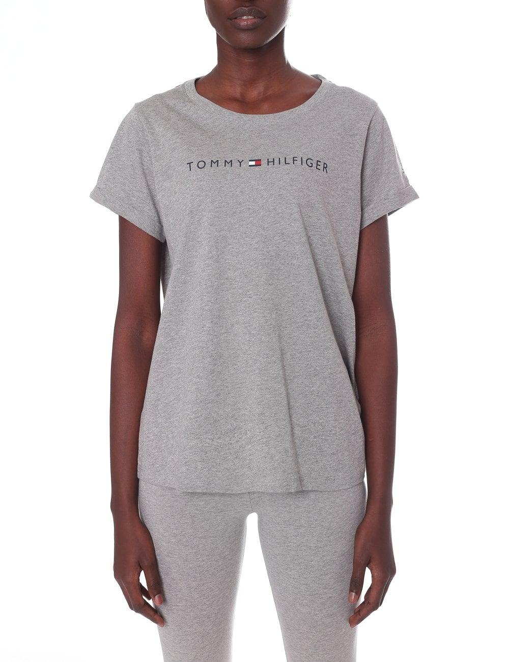 5ff32c2c Tommy Hilfiger Women's Round Neck Short Sleeve Logo Tee