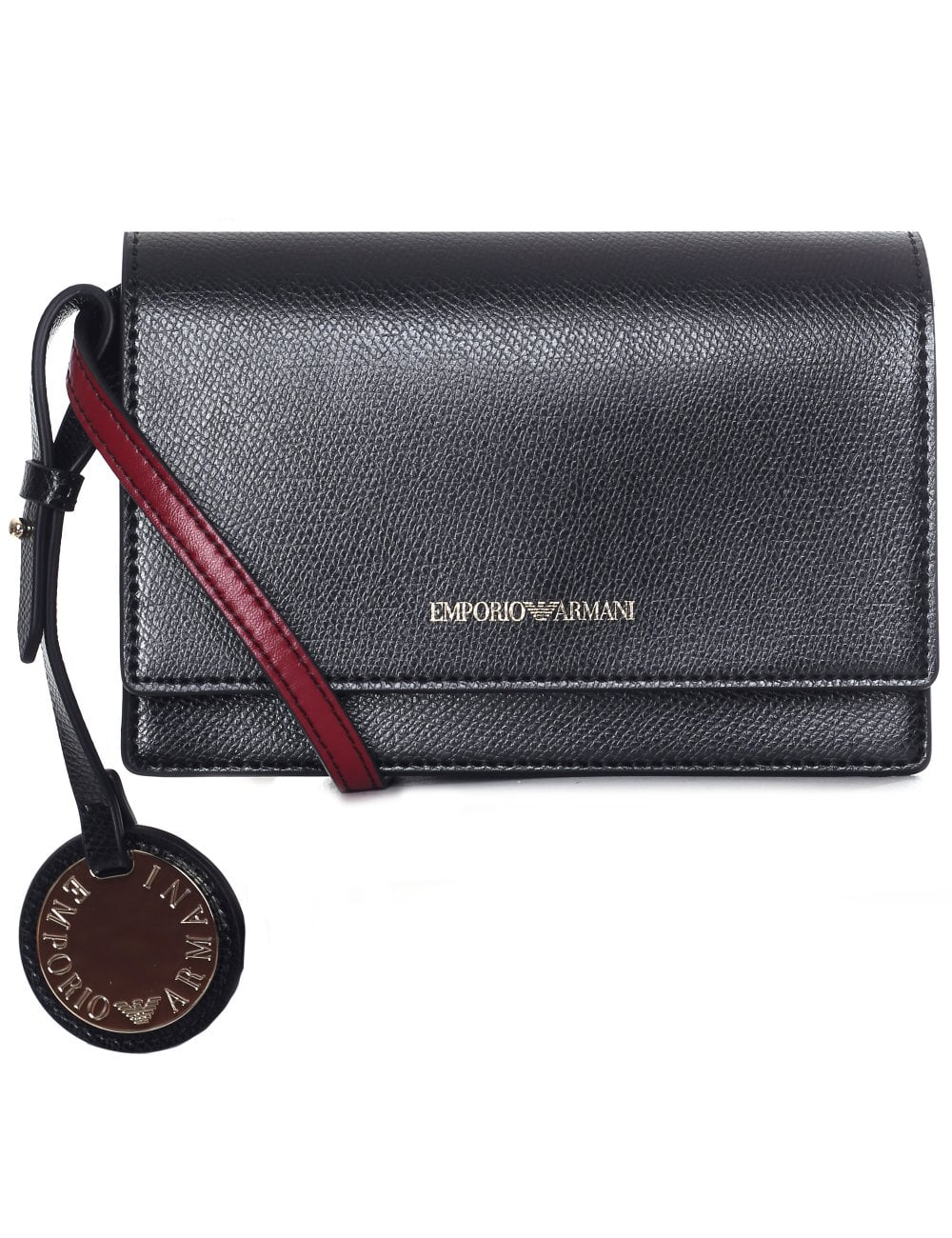 70b5c11951 Emporio Armani Women's Saffiano Small Crossbody Bag