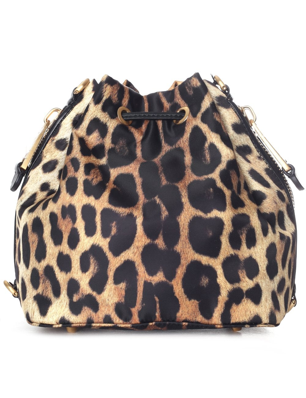 9ffec98eb9c5 Moschino Couture Women's Small Leopard Bucket Bag