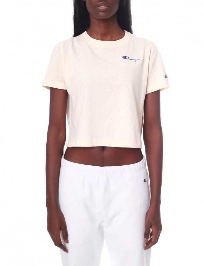 8815be8ac Champion Women's Small Script Logo Cropped Tee