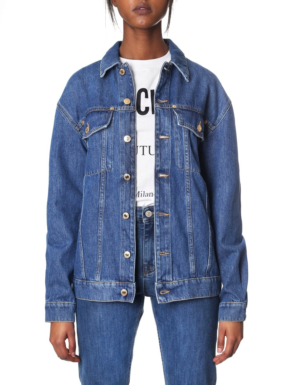 look for enjoy free shipping choose genuine Moschino Couture Women's Teddy Bear Denim Jacket