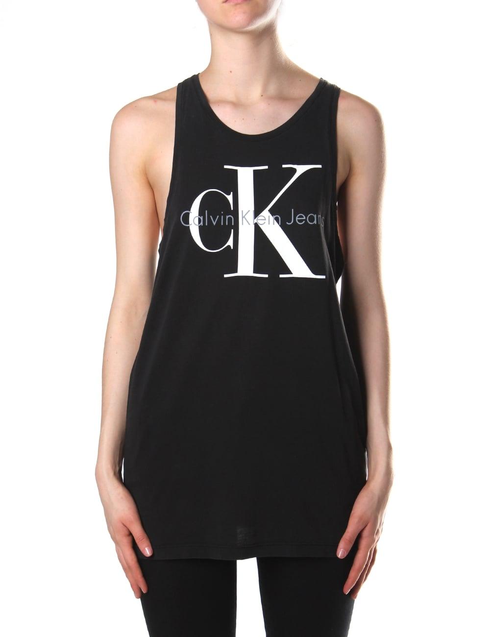 c3dfb505 Calvin Klein Women's Tyler 2 Long Logo Tank Top