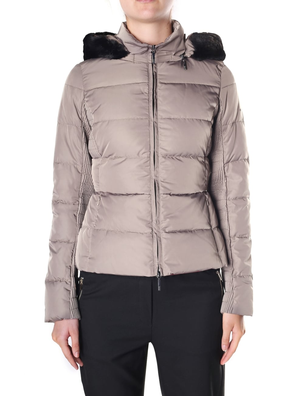 3bd3c810 Armani Jeans Women's Zip Through Hooded Down Jacket