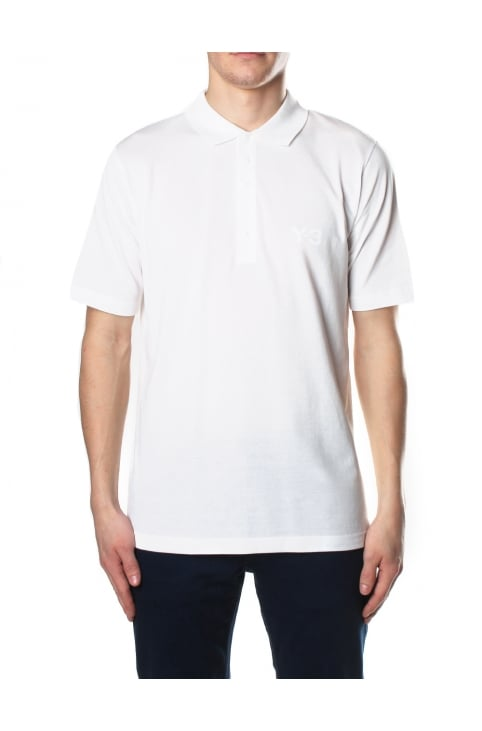 5B Short Sleeve Men's Polo Top White